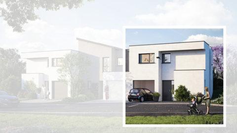 Staff Aménagement et Promotion - Les Hameaux de la Roseraie - Maisons neuves à Marly - Modèle A2 Droite