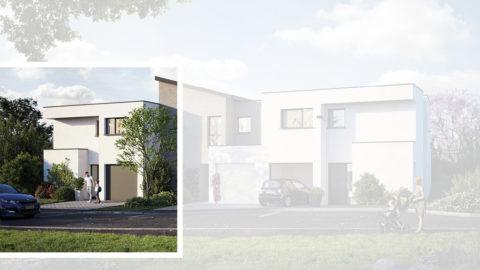Staff Aménagement et Promotion - Les Hameaux de la Roseraie - Maisons neuves à Marly - Modèle A2 Gauche